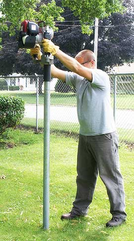 Rhino Post Drivers Air Pneumatic Gas Post Drivers By